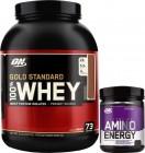 100% Gold Standard Whey 2,27 Kg. Optimum OMAGGIO Amino Energy 90 gr.